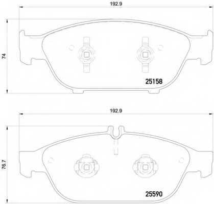 Колодки тормозные дисковые BREMBO P85127 - изображение