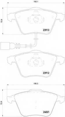 Колодки тормозные дисковые BREMBO P 85 129 - изображение