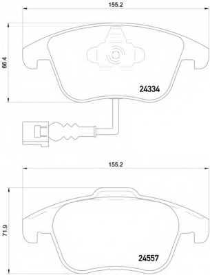 Колодки тормозные дисковые для AUDI Q3(8U) / VW TIGUAN(5N#) <b>BREMBO P 85 130</b> - изображение