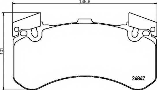 Колодки тормозные дисковые для AUDI A6(4G2,4GC,C7), A7(4GA,4GF), A8(4H#), Q5(8R) <b>BREMBO P 85 136</b> - изображение