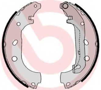 Комплект тормозных колодок для FORD TOURNEO CONNECT, TRANSIT CONNECT(P65#,P70#,P80#) <b>BREMBO S 24 539</b> - изображение