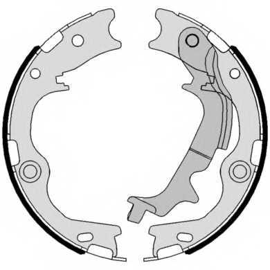 Комплект тормозных колодок для KIA SPORTAGE(SL) <b>BREMBO S 30 537</b> - изображение