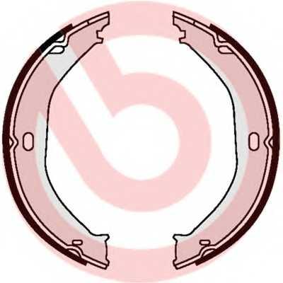 Комплект колодок стояночной тормозной системы BREMBO S37505 - изображение