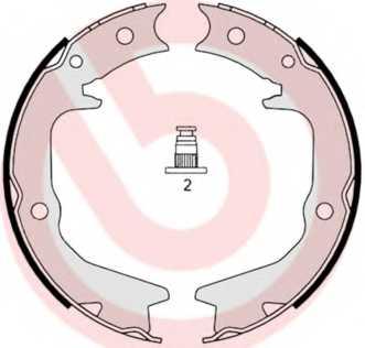 Комплект колодок стояночной тормозной системы BREMBO S 54 519 - изображение