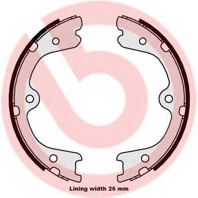 Комплект колодок стояночной тормозной системы BREMBO S 56 546 - изображение