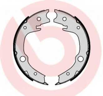 Комплект колодок стояночной тормозной системы BREMBO S 83 551 - изображение