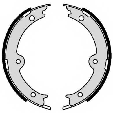 Комплект колодок стояночной тормозной системы BREMBO S 83 564 - изображение