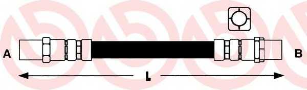 Тормозной шланг BREMBO T 06 005 - изображение