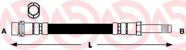 Тормозной шланг BREMBO T06020 - изображение