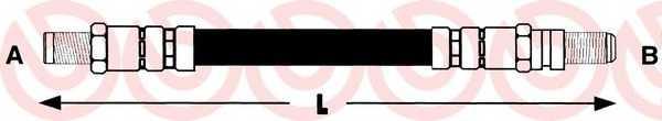 Тормозной шланг BREMBO T 24 009 - изображение