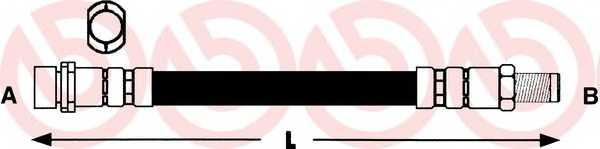 Тормозной шланг BREMBO T 24 037 - изображение