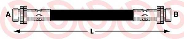 Тормозной шланг BREMBO T 24 048 - изображение