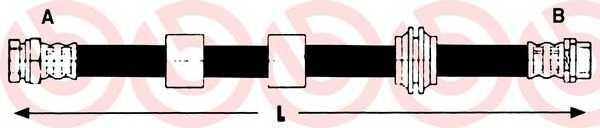 Тормозной шланг BREMBO T 24 127 - изображение