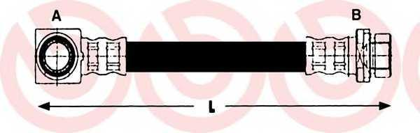 Тормозной шланг BREMBO T 24 130 - изображение