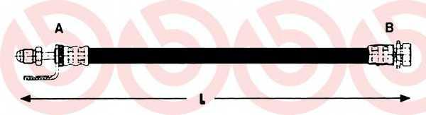 Тормозной шланг BREMBO T 24 134 - изображение