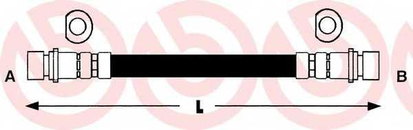 Тормозной шланг BREMBO T 28 012 - изображение