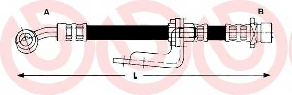 Тормозной шланг BREMBO T28013 - изображение