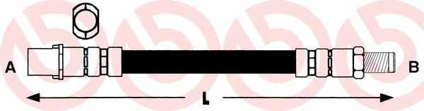 Тормозной шланг BREMBO T50010 - изображение