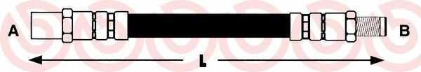 Тормозной шланг BREMBO T50011 - изображение