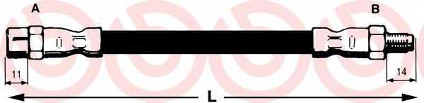 Тормозной шланг BREMBO T 50 026 - изображение