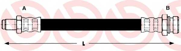 Тормозной шланг BREMBO T54005 - изображение