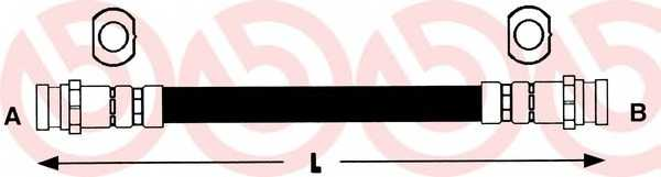 Тормозной шланг BREMBO T 56 029 - изображение