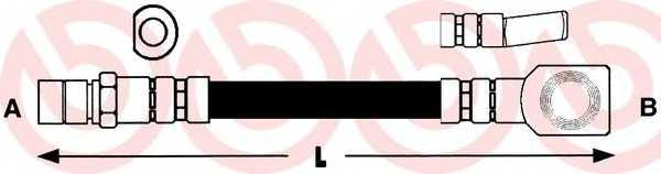 Тормозной шланг BREMBO T 59 005 - изображение