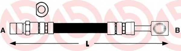 Тормозной шланг BREMBO T 59 009 - изображение