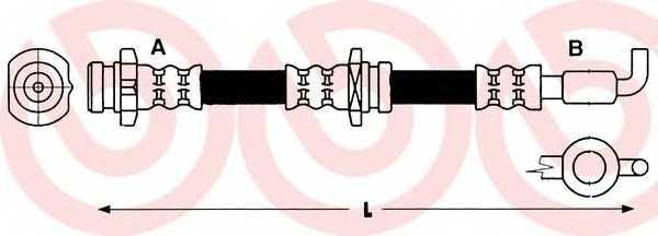 Тормозной шланг BREMBO T 59 010 - изображение