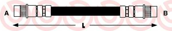 Тормозной шланг BREMBO T61018 - изображение