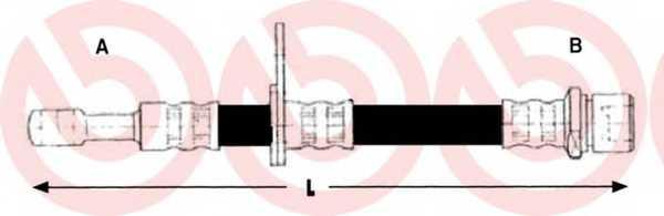 Тормозной шланг BREMBO T 78 028 - изображение