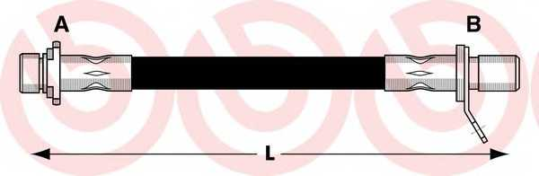 Тормозной шланг BREMBO T83011 - изображение