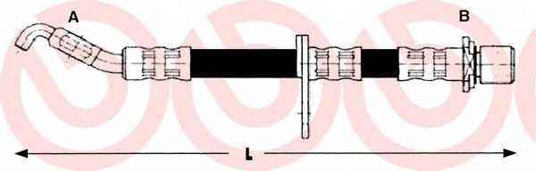Тормозной шланг BREMBO T 83 013 - изображение