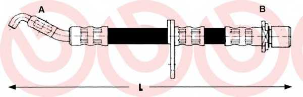 Тормозной шланг BREMBO T83014 - изображение
