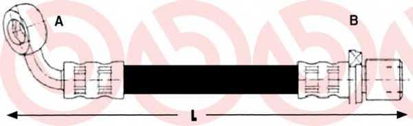 Тормозной шланг BREMBO T 83 093 - изображение