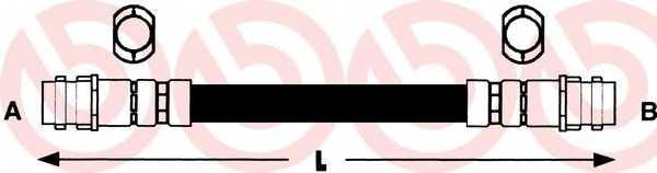 Тормозной шланг BREMBO T 85 027 - изображение