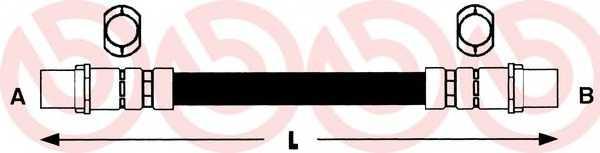 Тормозной шланг BREMBO T85036 - изображение