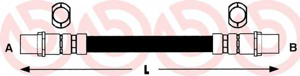 Тормозной шланг BREMBO T85040 - изображение
