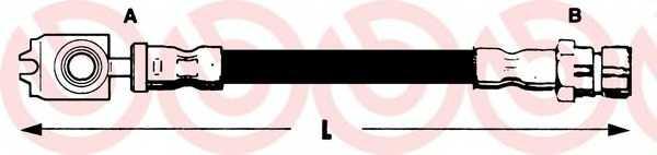 Тормозной шланг BREMBO T 85 046 - изображение