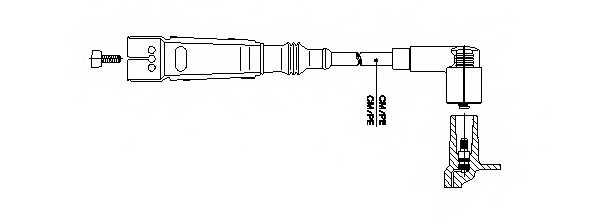Провод зажигания BREMI 111/75 - изображение