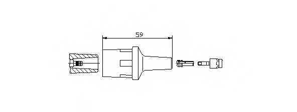 Вилка, катушка зажигания BREMI 13551 - изображение