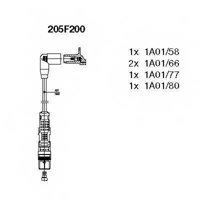 Комплект проводов зажигания BREMI 205F200 - изображение