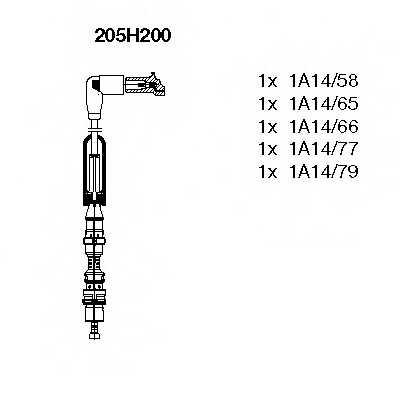 Комплект проводов зажигания BREMI 205H200 - изображение