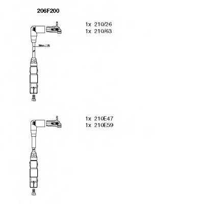Комплект проводов зажигания BREMI 206F200 - изображение