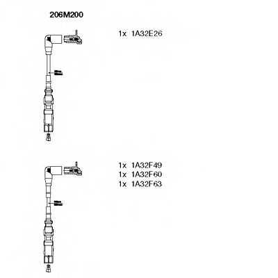 Комплект проводов зажигания BREMI 206M200 - изображение