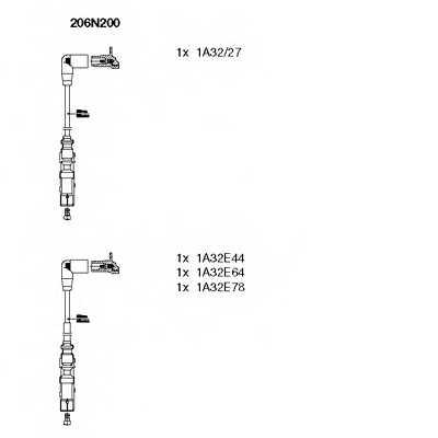 Комплект проводов зажигания BREMI 206N200 - изображение