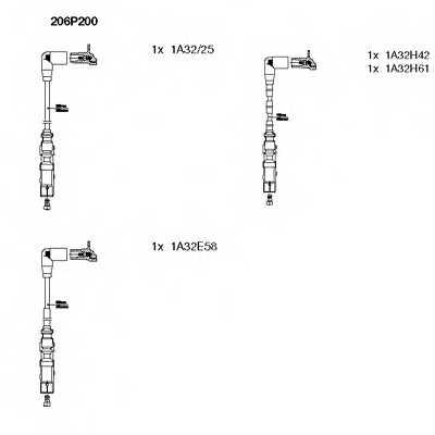 Комплект проводов зажигания BREMI 206P200 - изображение