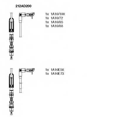Комплект проводов зажигания BREMI 212AD200 - изображение