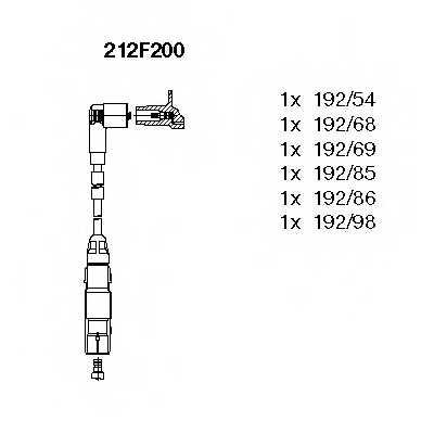 Комплект проводов зажигания BREMI 212F200 - изображение