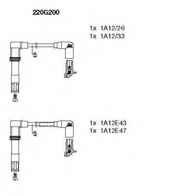 Комплект проводов зажигания BREMI 220G200 - изображение